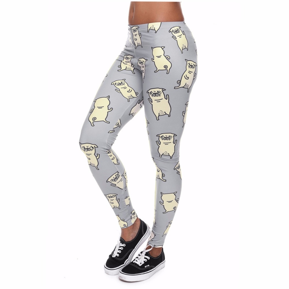 2019 Summer Fashion Women Slim Workout Pants Trousers Pugs Dance Digital Printing Leggings Ladies Skinny Sportswear Leggings Punctual Timing
