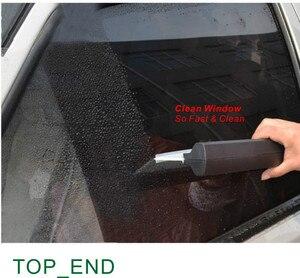 "Image 3 - ホット & 日本品質、送料無料、 1 ピース、 12 ""ワイド窓洗濯スキージ、 w/Felxi ワイパー、黒フラットハンドル、ガレージキットツール"