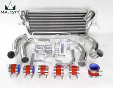 FIT:93 94 95 96 97 MAZDA RX7 FD3S FMIC FRONT MOUNT INTERCOOLER + PIPING TURBO silicone hose color RED SIZE 29*11*2.5(China)