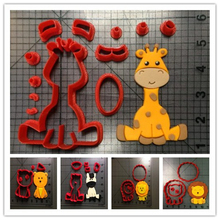 Animal Lion Zebra Giraffe Cookie Cutter Set Custom Made 3D Printed Fondant Cupcake Top For Cake Cutter Stamp Decorating Moulds animal lion zebra giraffe cookie cutter set custom made 3d printed fondant cupcake top for cake cutter stamp decorating moulds