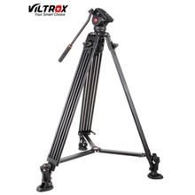 1.8M Viltrox VX-18M Pro Fluid Pan Head Heay Duty Aluminum Video Tripod for Digital Camera DSLR