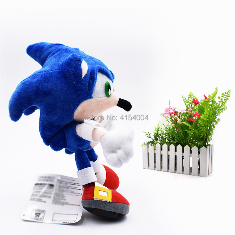 Oyuncaklar ve Hobi Ürünleri'ten Filmler ve TV'de 20 adet/grup Toptan Oyuncak Sonic Yumuşak Peluş Bebek Mavi Sonic Karikatür Hayvan Dolması peluş oyuncaklar Şekil Bebekler Hediyeler 20 cm'da  Grup 3