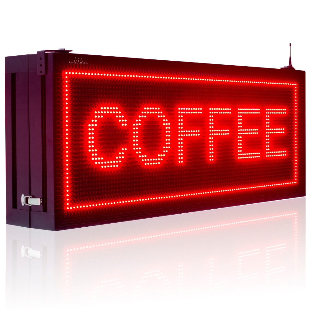 P10 Pixels 32 X 96 dots Red Double Sided Led Sign Outdoor Waterproof  Display Board Programmable Scrolling Advertising Lamp