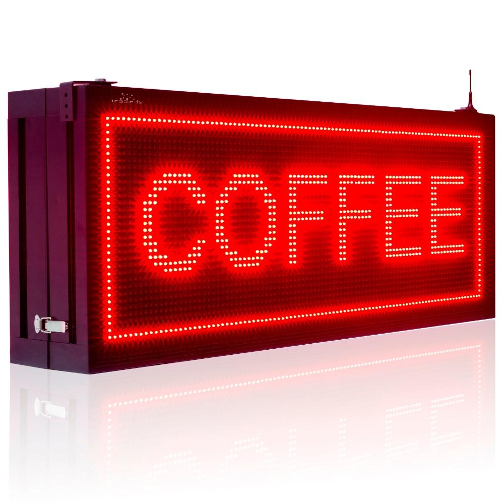P10 Pixels 32X96 points rouge Double face Led signe extérieur étanche panneau d'affichage Programmable défilement publicité lampe