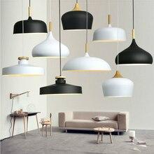 現代の垂れ天井ランプ木材アルミ E27 イタリアペンダントライト、家のダイニングルームの装飾照明