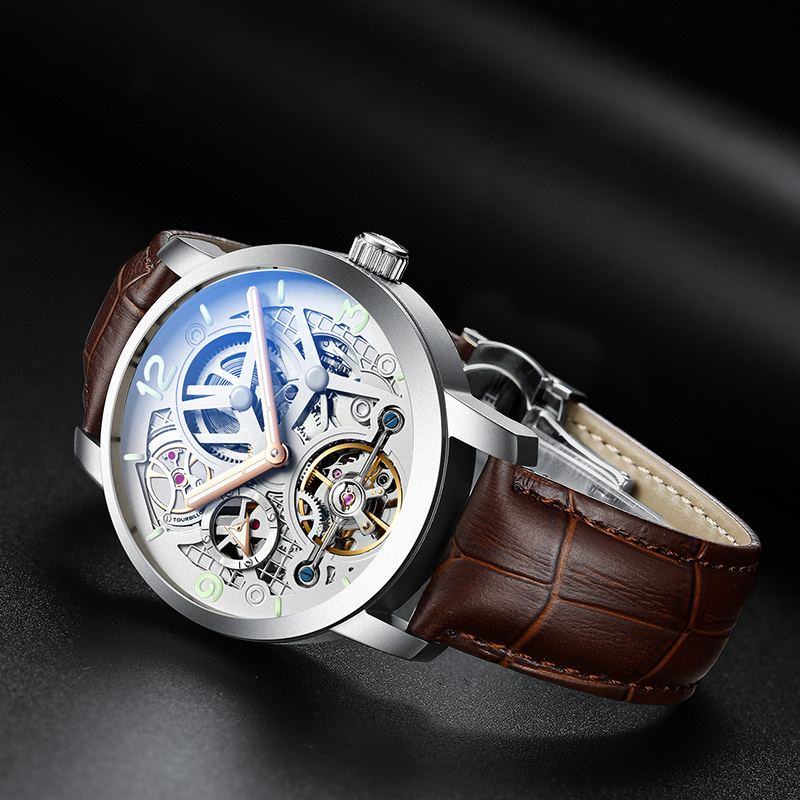 AILANG time luxury brand watches the best automatic mechanical watch men full steel business sport waterproof watches Male watch - 1