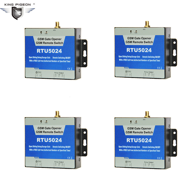 Powerful GSM Gate Opener Relay Switch for Door Gate Street lights Solar Power Remote Controlled by FREE call RTU5024 rtu5024 gsm gate opener relay switch
