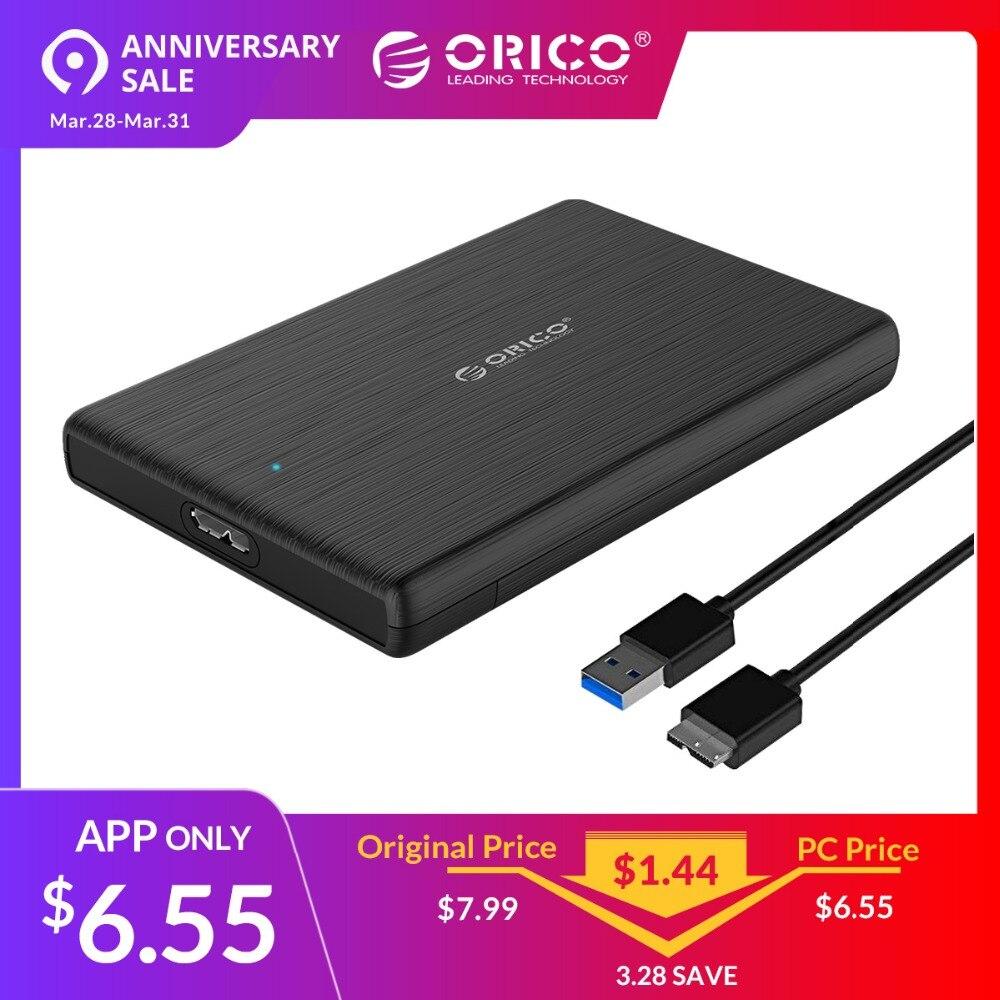 ORICO HDD Caso 2.5 SATA a USB 3.0 Hard Drive Enclosure per Disco SSD HDD Box di Tipo C 3.1 Caso supporto UASP per la Finestra/Max/Linux