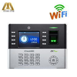 Buona Qualità Biometrico Di Impronte Digitali Presenza di Tempo Iclock980 Con WIFI TCP/IP Sistema di Controllo Porta di Accesso Orologio in Tempo