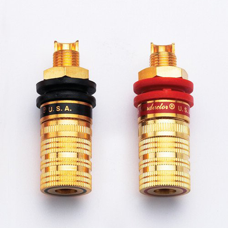 2 Pcs CMC-838-S Binding Post Pure Copper Gold Plated  Audio  Speaker Terminal
