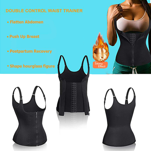 Postpartum Belt Maternity Sweat Waist Trainer Sport Bandage Neoprene Sauna Vest for Weight Loss with Zipper for Pregnant Women 4
