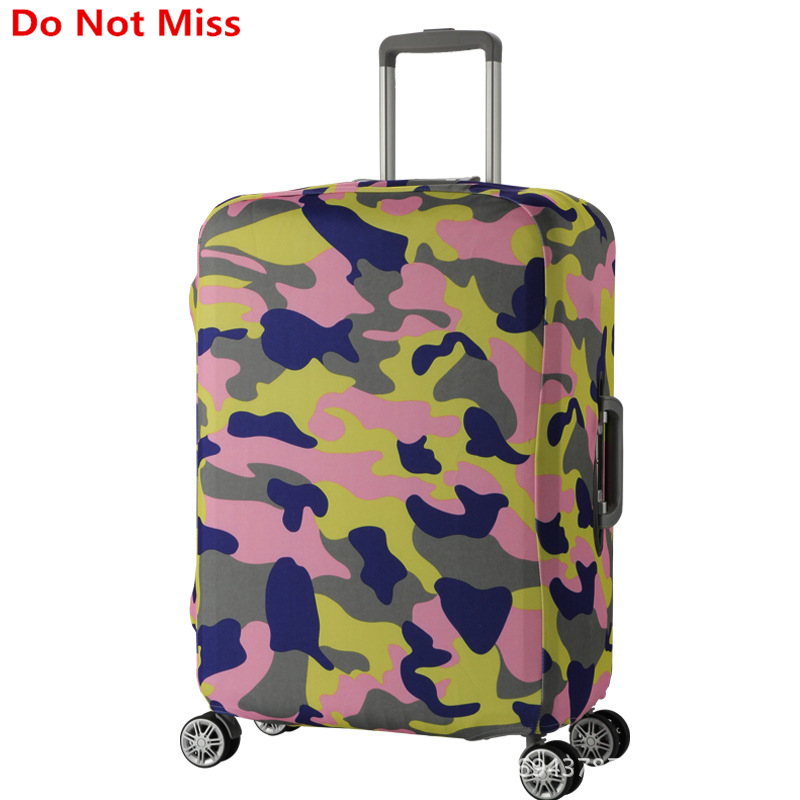 Do Not Miss Trolley Case Dust Cover travel Cartoon Suitcase Elasticity dust cover Travel Suitcase Shell