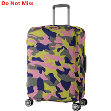 Do Not Miss Trolley Case Dust Cover travel Cartoon Suitcase Elasticity dust cover Travel Suitcase Shell Protective Trunk Covers