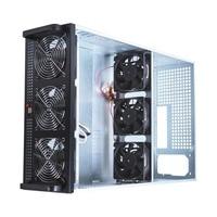 4U добыча случае рамки Подходит для 6/8 графика карты Сталь открытым горного воздуха сервер шасси с 6 вентиляторы ETH/BTC/LTC/и т. д