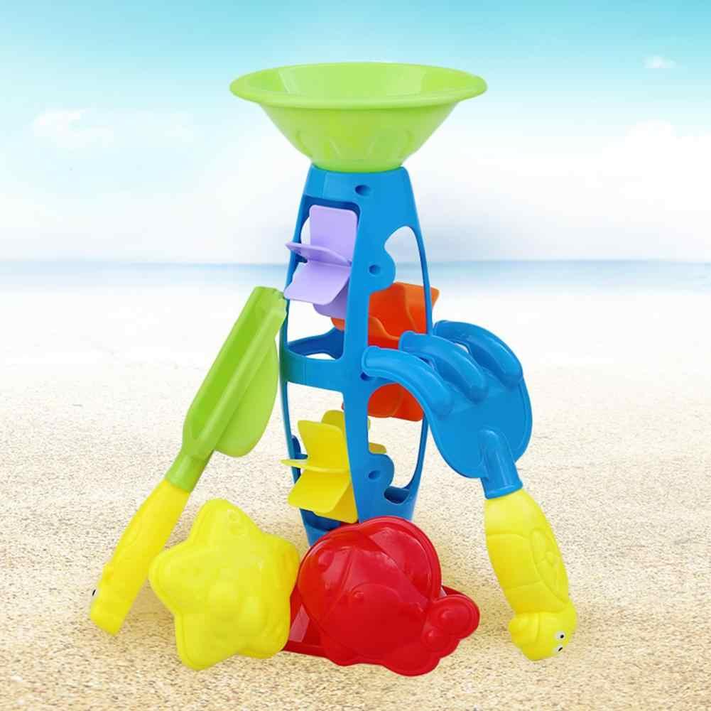 Летние пляжные игрушки набор детей играть песок копания песка сборки пляжные песочные часы интеллектуальные игры игрушки раннего развития для ребенка