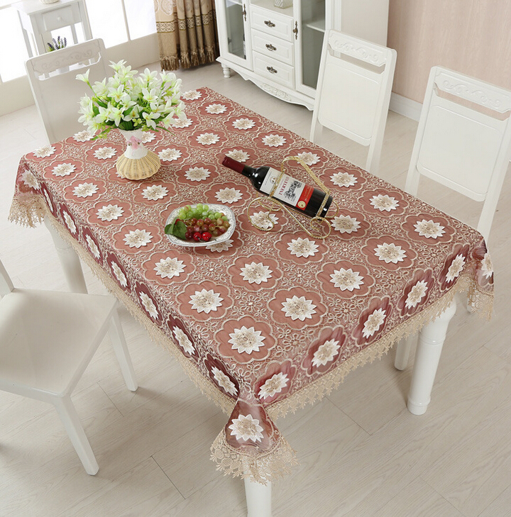 Lotus Table Cloth Lace Hotel Tablecloths Restaurant Coffee Table Party Home Table Cloth Newspaper Desk Table Cover