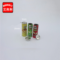 30PCS 1/12 Scale Mini Simulation Potato Chips Can Dollhouse Miniature Doll Food Accessories Toy
