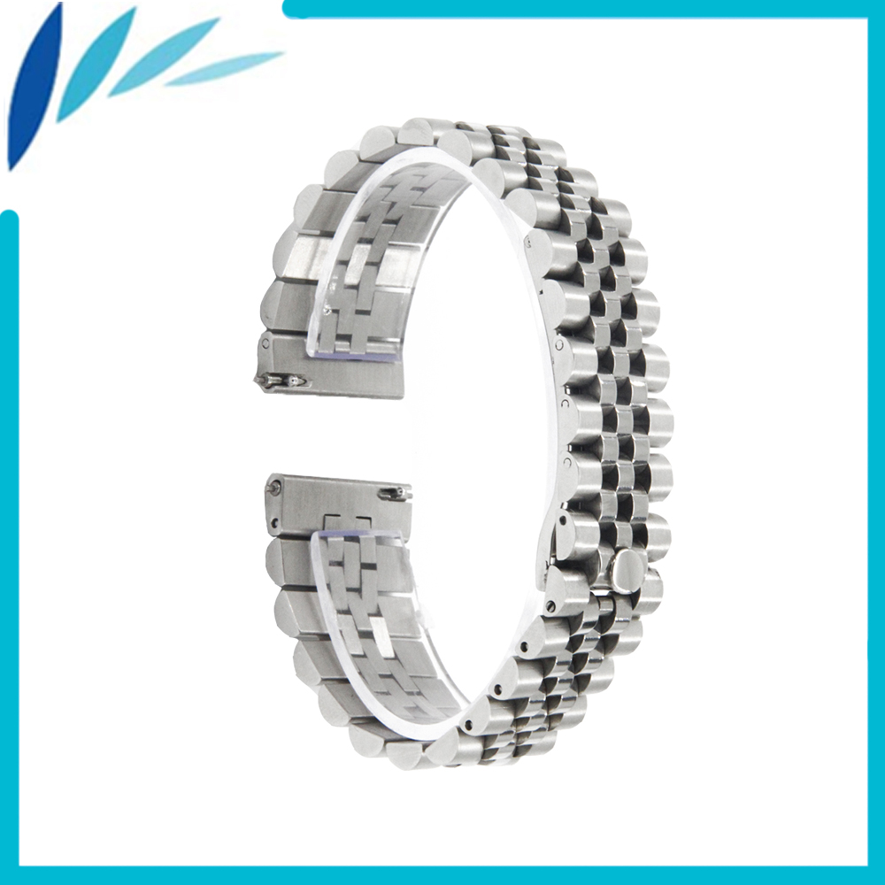 Stainless Steel Watch Band 22mm for TAG Heuer / Luminox Quick Release Watchband Strap Wrist Men Women Loop Belt Bracelet Silver