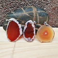 Natural Orange Agate Slice Raw Minerals Stones Pendants One Product One Picture
