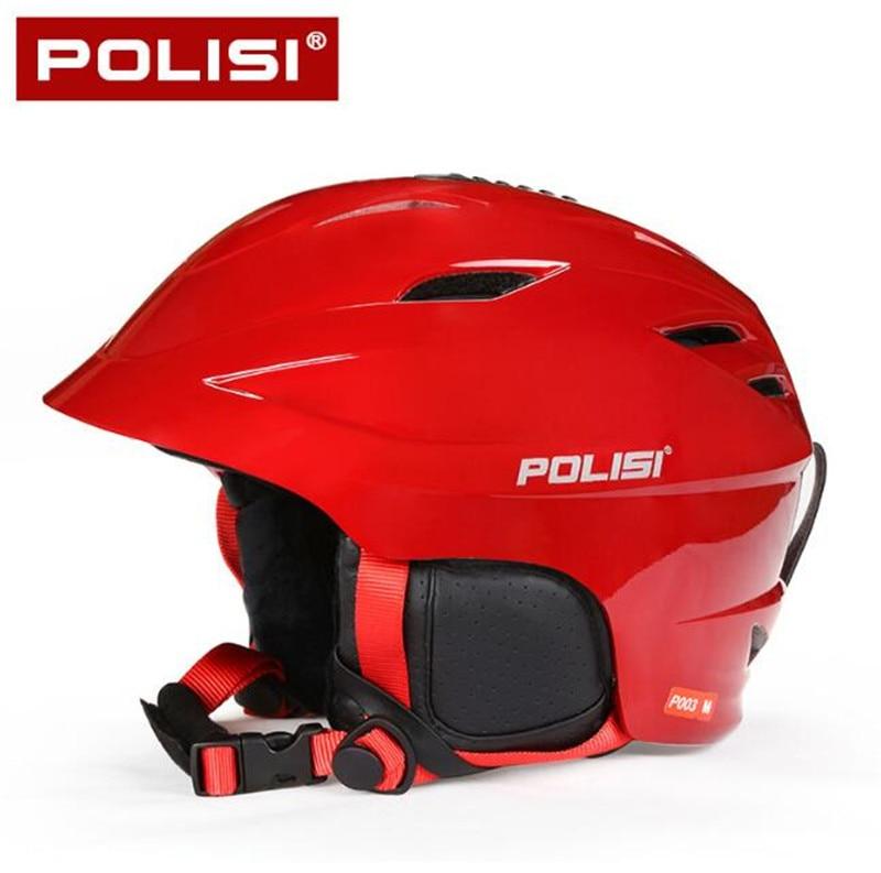 POLISI Men Women Winter Ski Skiing Snowboard Helmet Equipment Men Women Outdoor Sport Snow Skate Saftly Helmet fl ski gloves snowboard