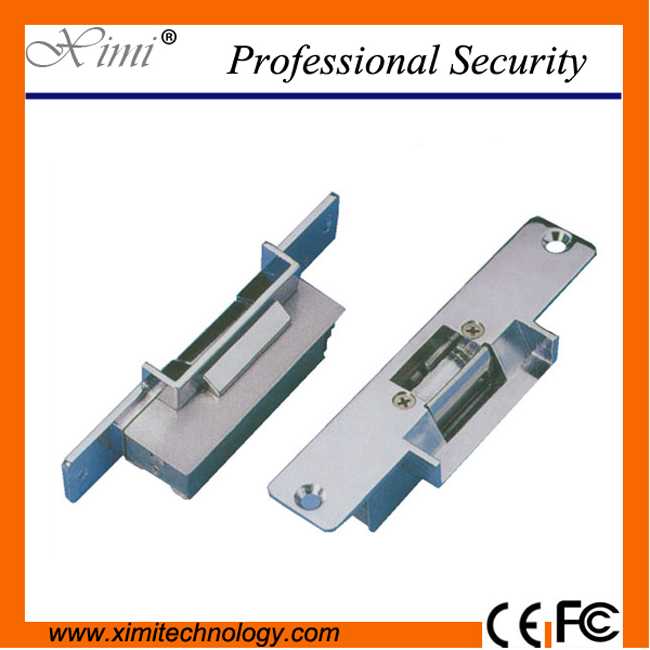 Good quality fail safe NC-type (power to lock) 12V for access control  (Narrow Mouth) standard-type electric strike series lock ys 138no nc ansi standard heavy duty electric strike size 124 x 32 x 33 mm