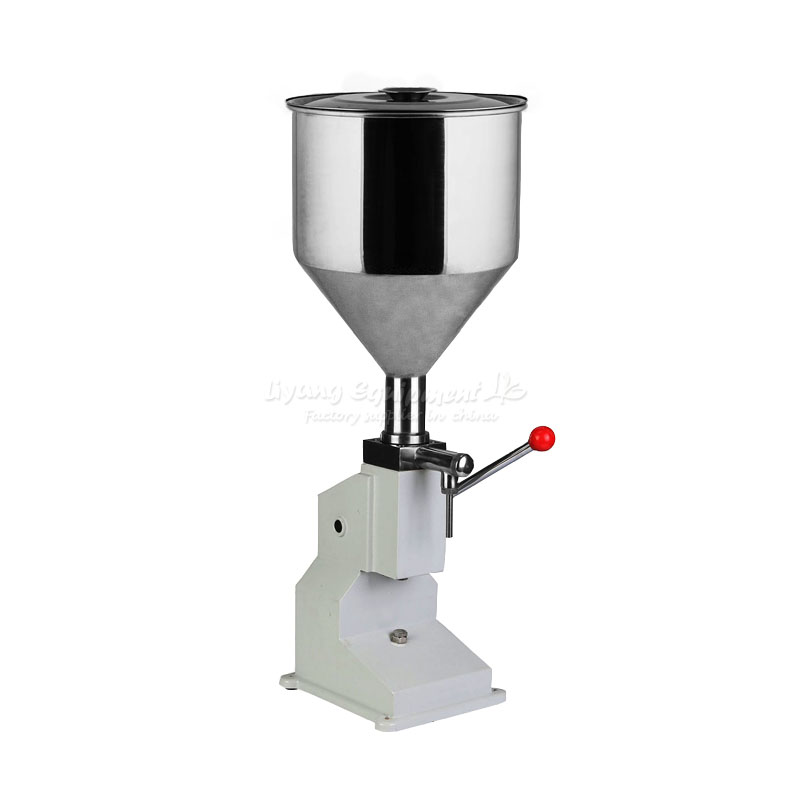Hand pressure filling machine A03 can be filled with liquid/fluid food/lubricants etc a03 manual filling machine for cream shampoo cosmetic lube fluid food etc