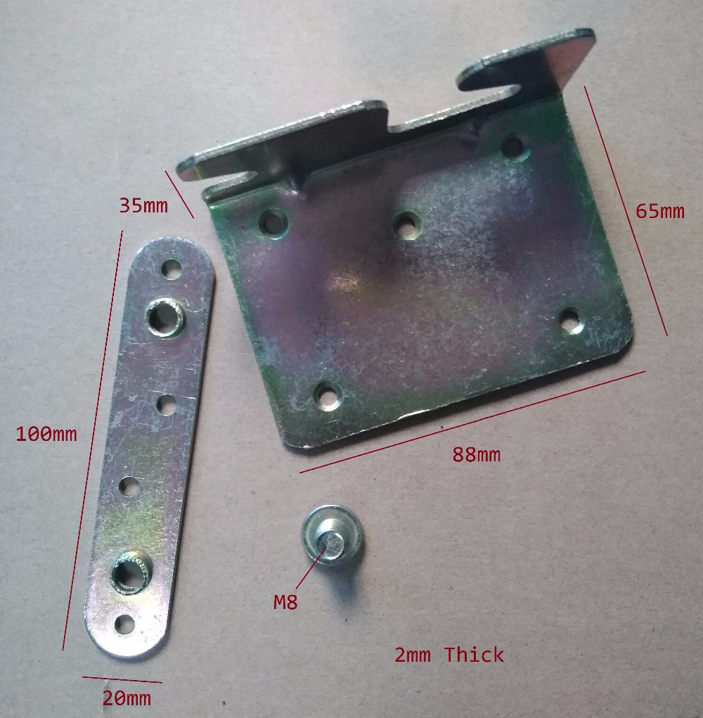 4pcs/Lot Premintehdw Furniture Wood Bed Rail Bracket Fitting Screws Connectors Fasteners