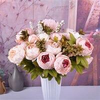 ร้อนที่มีคุณภาพสูงผ้าไหมดอกไม้ปลอมการใช้งานหลายงานแต่งงานตกแต่งบ้านยุโรปฤดูใบไม้ร่วงส...