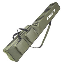 Two Layer Fishing Rod Bag 130cm Pole Gear Tackle Tool Case For Rods Carrier Storage Cover Shoulder