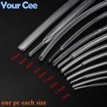 2:1 Heat Shrink Tube Shrinkable Sleeve Heatshrink Tubing Insulation Wire Cable 600V Clear Color 9pc Each Size 2 to 10MM