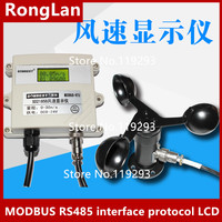 [BELLA] Wind speed indicator MODBUS RS485 interface protocol LCD