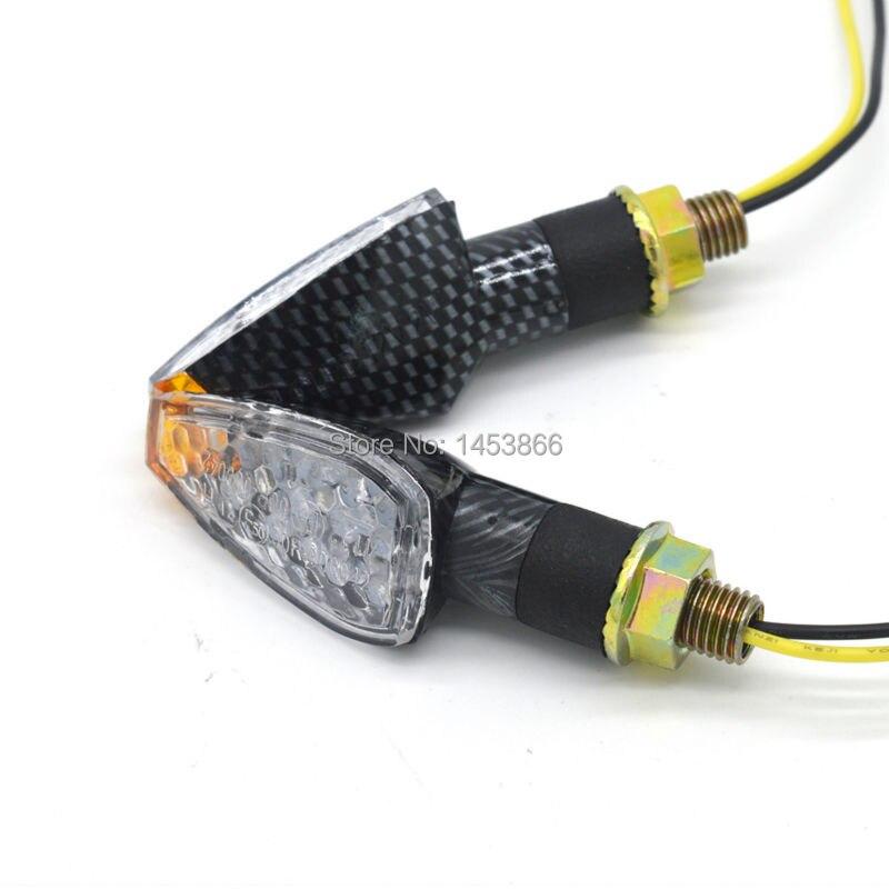 evomosa Univeral 14 LED 12V 2W Carbon Motorcycle Moto LED Turn Signal Indicator Blinker Lights Flashing Lamp For Honda Suzuki