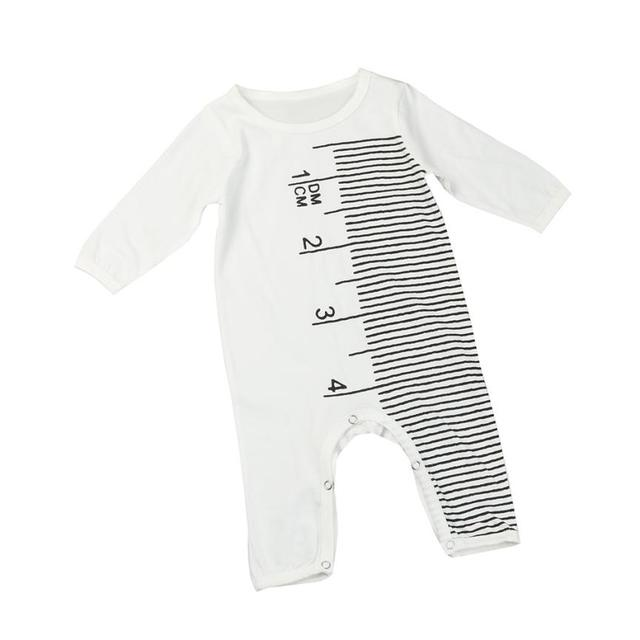 7a9e677f21e2 Imported baby clothes Newborn Infant Baby Boy Girl Ruler Pattern ...