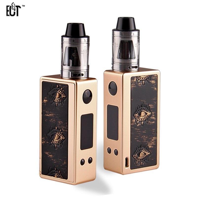 Original ECT X80TC Box Mod Electronic Cigarette Wealth 80W TC Kit E-cigarettes 2ml Prota Atomizer Vaporizer Kits kvp lover 120w tc box mod kit