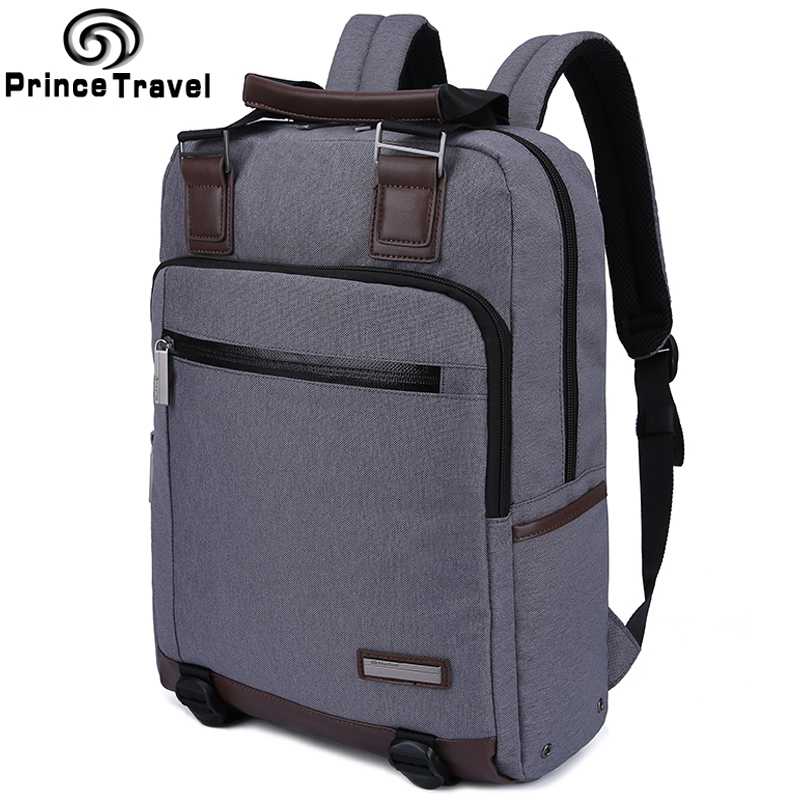 ФОТО Prince Travel Laptop Bag Backpack Men Brand Compact Men's Backpacks Multifunction Business Backpack Travel Mochilas masculina