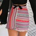 2016 Nueva Llegada Del Otoño Del Verano Mujeres Sexy Stretch Formal de Cintura Alta Bodycon Pencil Skirt