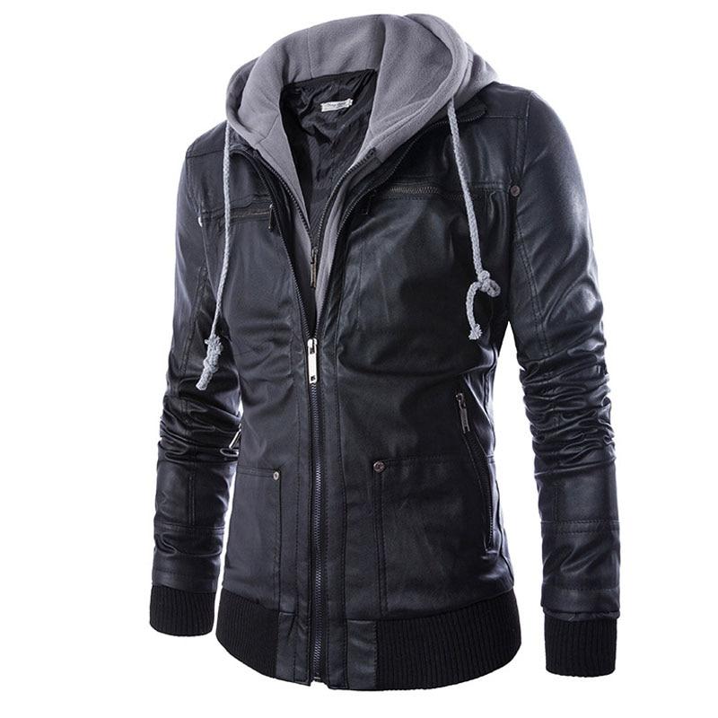Resultado de imagen para chaquetas de cuero con capucha