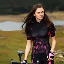 ФОТО summer women cycling jersey short sleeve high quality bike clothing breathable road bike tops ropa ciclismo santic