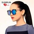 SUNRUN Óculos Polarizados TR90 Mulheres Óculos de Design Da Marca óculos de Sol Retros UV400 gafas de sol oculos TR6013