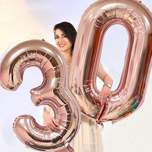Image 5 - Chicinlife 30 ty temat balon na przyjęcie urodzinowe Cupcake Topper rekwizyty fotograficzne Banner słomy konfetti impreza dla dorosłych materiały dekoracyjne