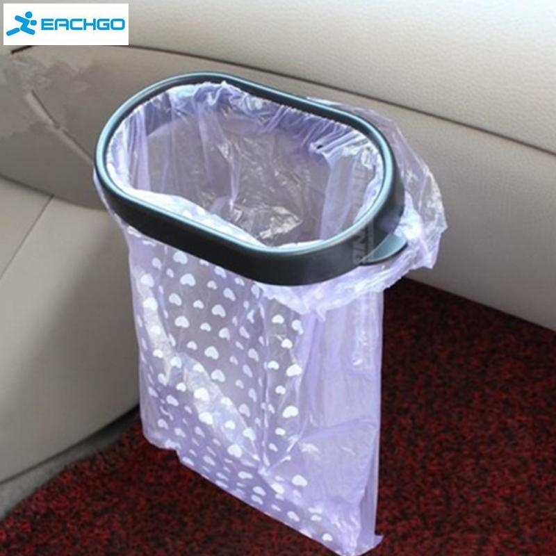 car styling vacuum base garbage bag holder trash bag rack rubbish bin portable plastic car trash bag frame holder easy dust - Trash Bag Holder