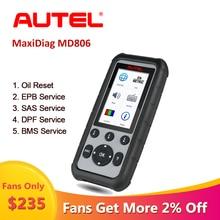 Autel MaxiDiag MD806 Obd2 เครื่องสแกนเนอร์เครื่องมือวินิจฉัยรถยนต์Scania OBD 2 Professionalเครื่องสแกนเนอร์รถยนต์Automotivo Em Portugues