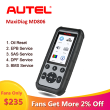 Autel MaxiDiag MD806 obd2 Auto Scanner Auto Diagnose Werkzeug scania OBD 2 Professionelle Automotive Scanner Automotivo em Portugues