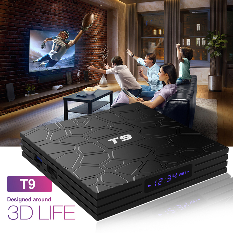 t9 rk3328 quad core android 8.1 tv box 4gb 32gb 64gb bluetooth 4.1 2.4g+5g wifi set top