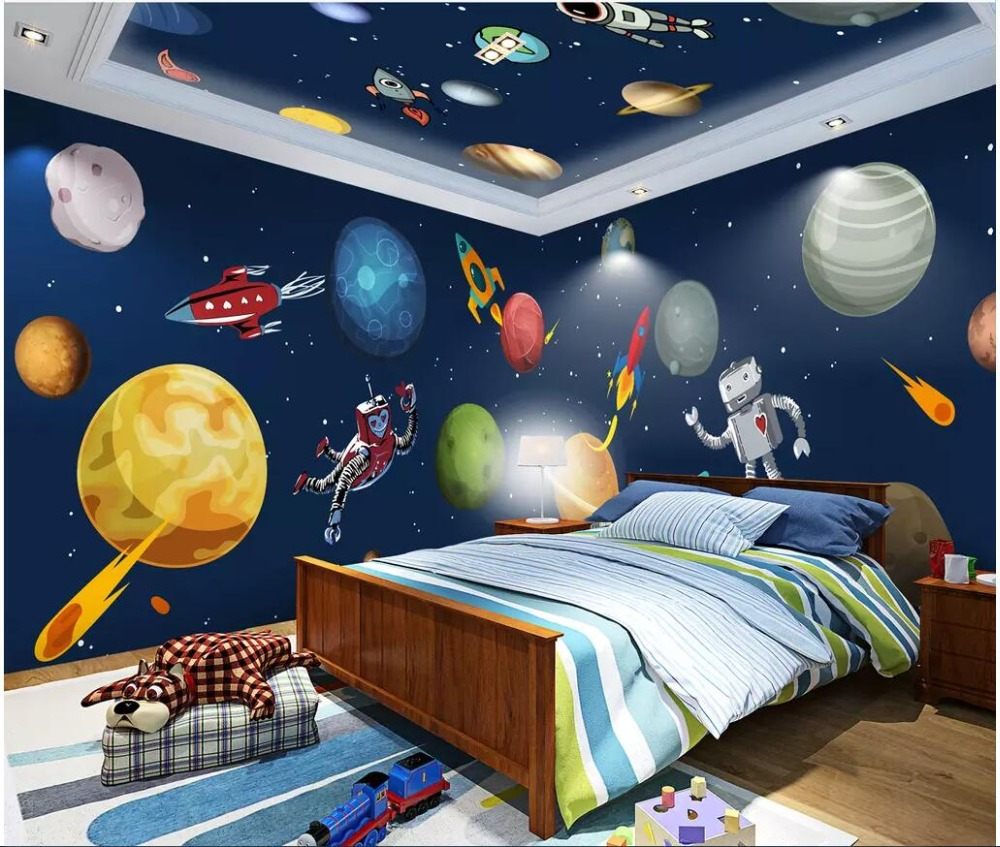 US $15 34 OFF Custom Photo 3d Room Wallpaper Cartoon Hand Drawn Cosmic Galaxy Space Full House Backdrop 3d Wall Mural Wallpaper For Wall 3
