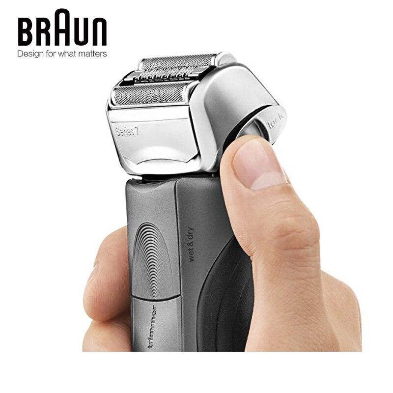 Бритвенный станок Braun электробритва 7865CC для мужчин, перезаряжаемая Серия 7, автоматическая бритва 2