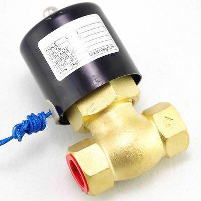 AC24V 1 BSPT 2Way NC газовое масло латунный паровой Соленоидный клапан PTFE Pilot Piston