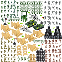 EASYWAY Military Army Men Toys with Tanks Fighters and Battlefield Accessories Soldier Figures in 4 Colors 250 Pieces PlaySet