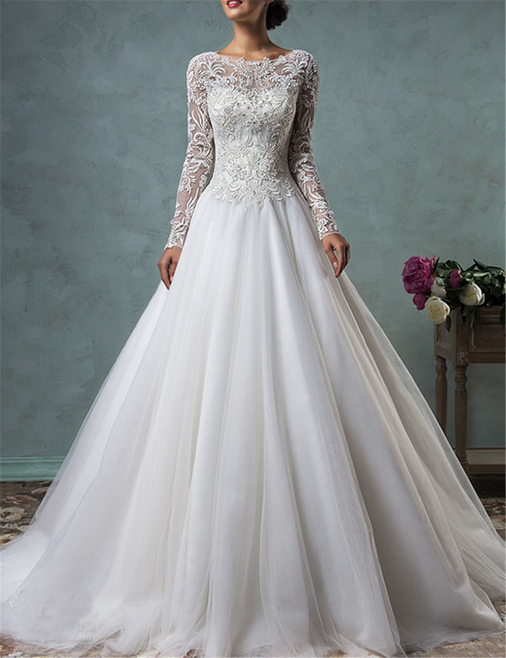 Wedding Dress Styles Embroidery Appliques Beading Soft Tulle Beaded Vestidos De Novia Princess Bridal Gown Custo-Made