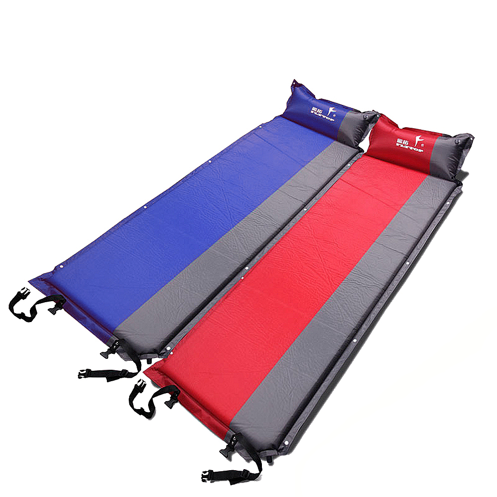 Moisture proof Sleeping Pad with Pillow Self inflating Sleeping Pad for Tent Camping Hiking Backpacking Inflatable